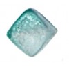Glass Bead Cubes 8mm With Diagonal Hole Two Tone Sugar Teal Green